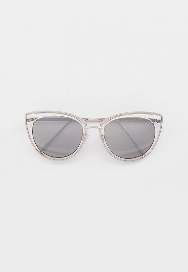 женские солнцезащитные очки кошачьи глаза skinnydip, серебряные