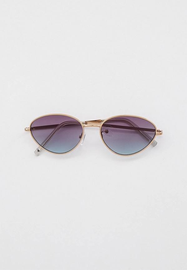 женские круглые солнцезащитные очки skinnydip, серебряные