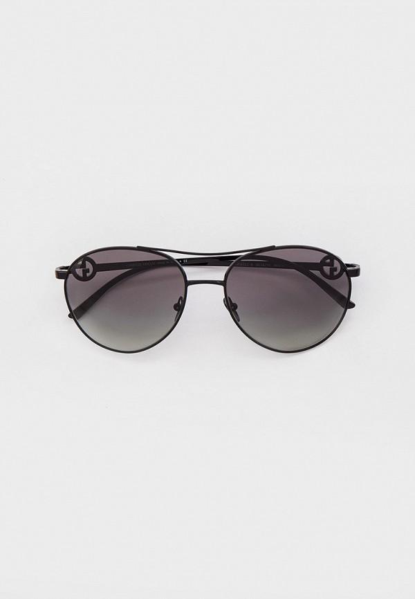 женские авиаторы солнцезащитные очки giorgio armani, черные