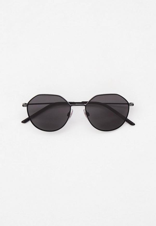 мужские круглые солнцезащитные очки dolce & gabbana, черные
