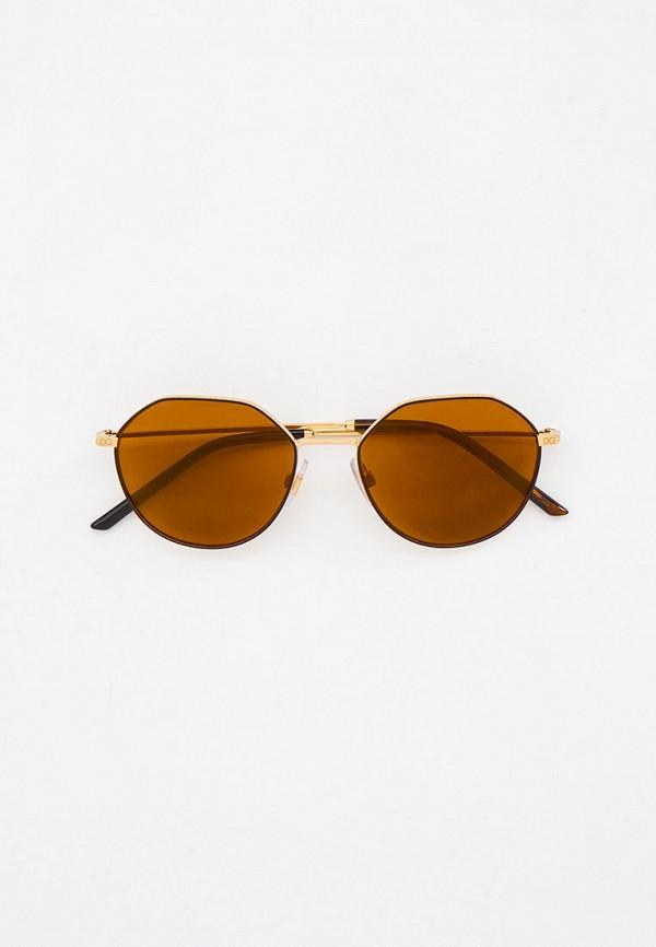 мужские круглые солнцезащитные очки dolce & gabbana, золотые