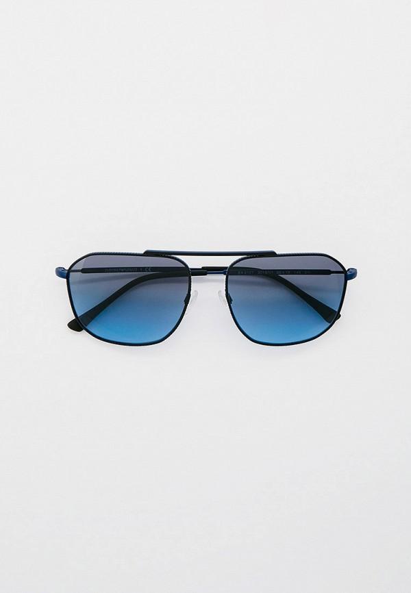 мужские авиаторы солнцезащитные очки emporio armani, синие