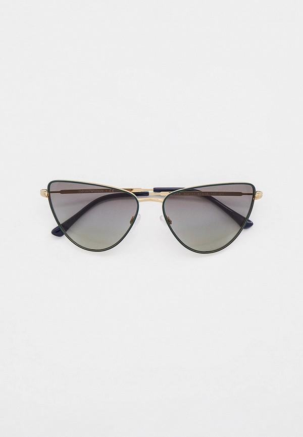 женские солнцезащитные очки кошачьи глаза emporio armani, зеленые