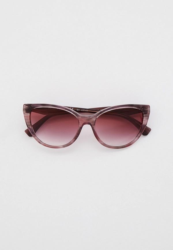 женские солнцезащитные очки кошачьи глаза emporio armani, разноцветные