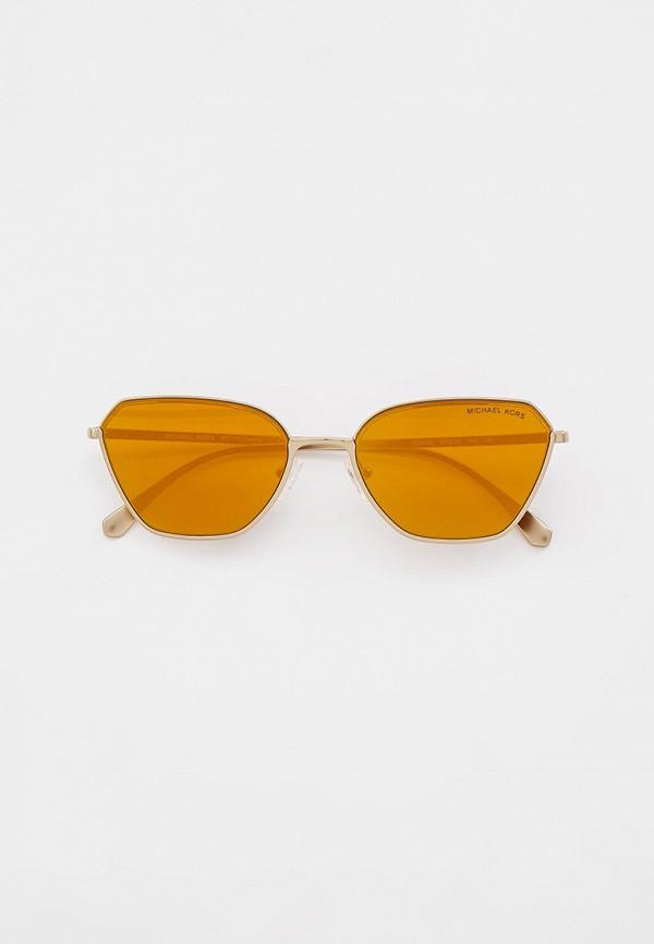 женские квадратные солнцезащитные очки michael kors, золотые