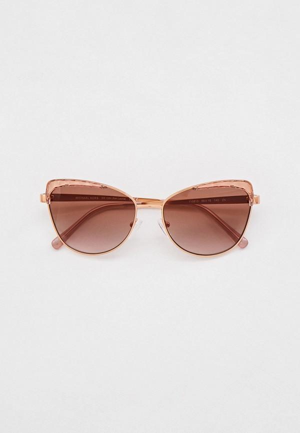 женские солнцезащитные очки кошачьи глаза michael kors, золотые