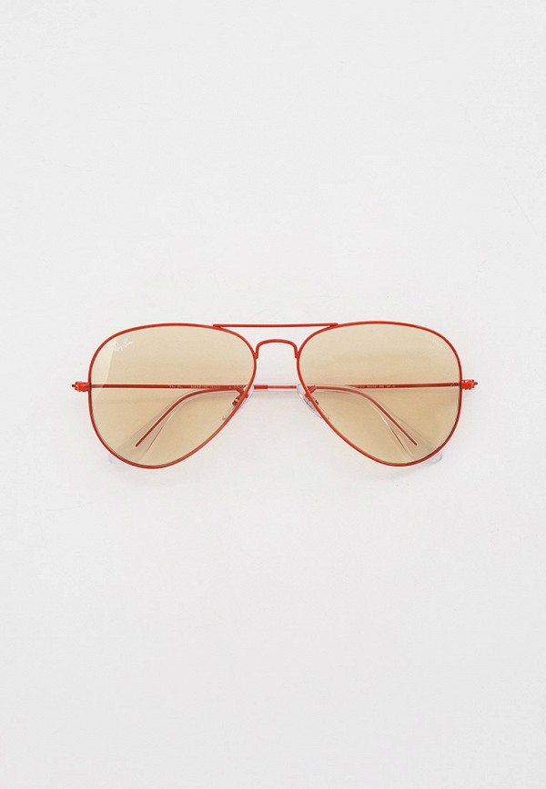 женские авиаторы солнцезащитные очки ray ban, красные