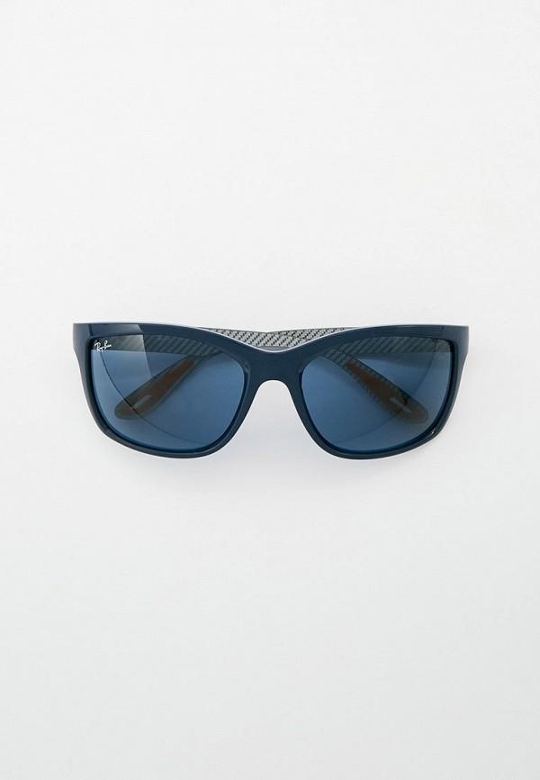 женские квадратные солнцезащитные очки ray ban, синие