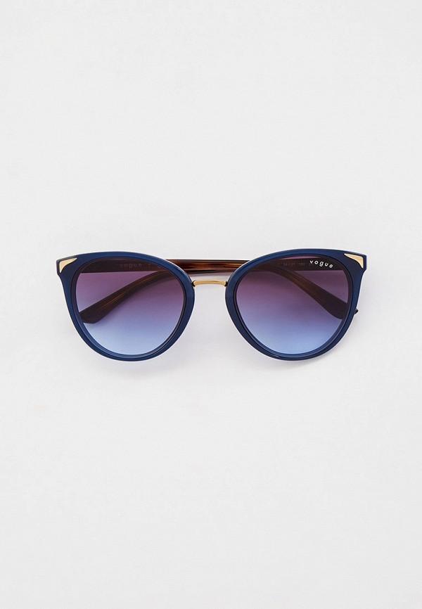 женские солнцезащитные очки кошачьи глаза vogue® eyewear, синие