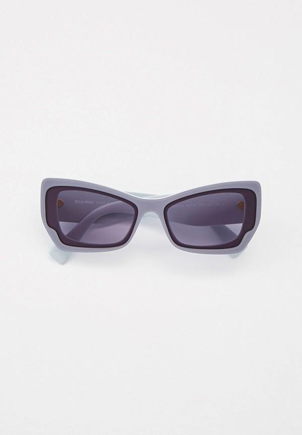 женские солнцезащитные очки кошачьи глаза miu miu, серые