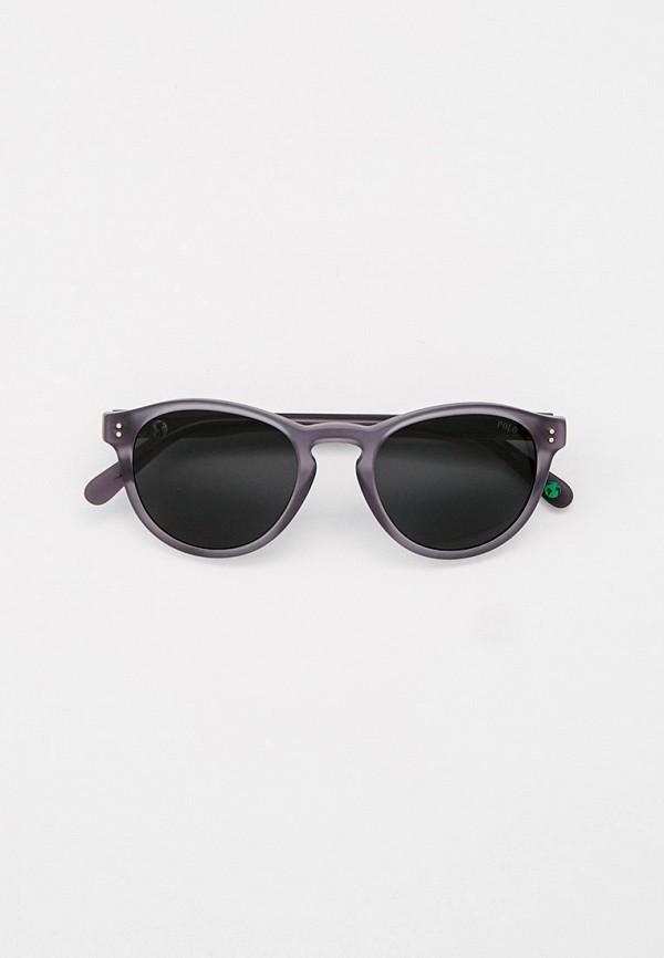 мужские круглые солнцезащитные очки polo ralph lauren, серебряные