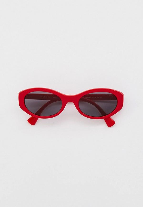 женские солнцезащитные очки ralph ralph lauren, красные