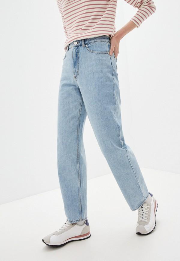 женские прямые джинсы wood wood, голубые