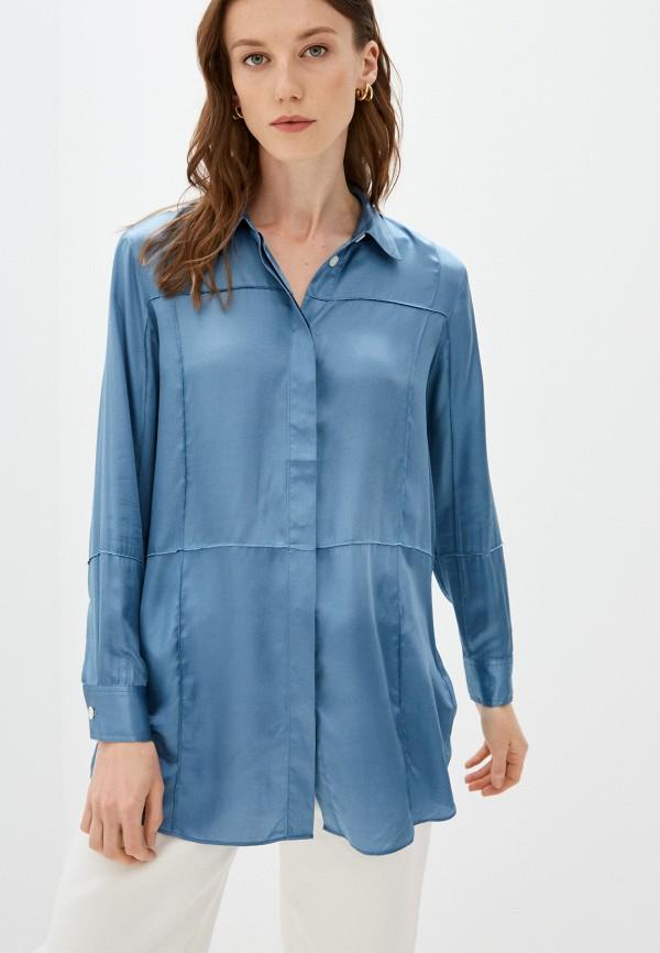женская блузка wood wood, голубая