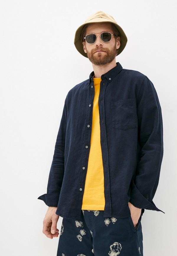 мужская рубашка с длинным рукавом wood wood, синяя