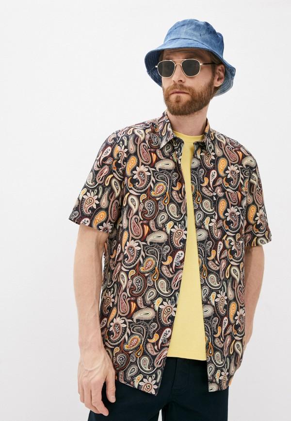 мужская рубашка с коротким рукавом wood wood, коричневая