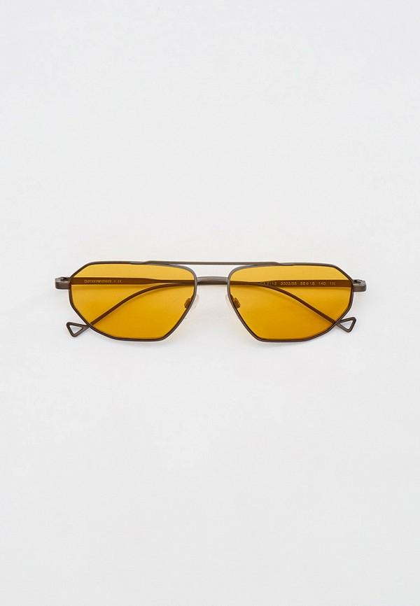 женские авиаторы солнцезащитные очки emporio armani, серебряные