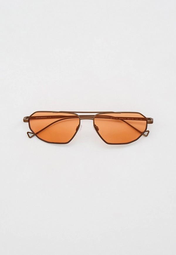 женские авиаторы солнцезащитные очки emporio armani, коричневые