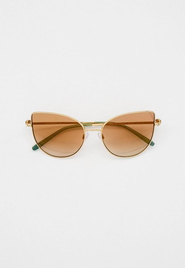 женские солнцезащитные очки кошачьи глаза emporio armani, золотые