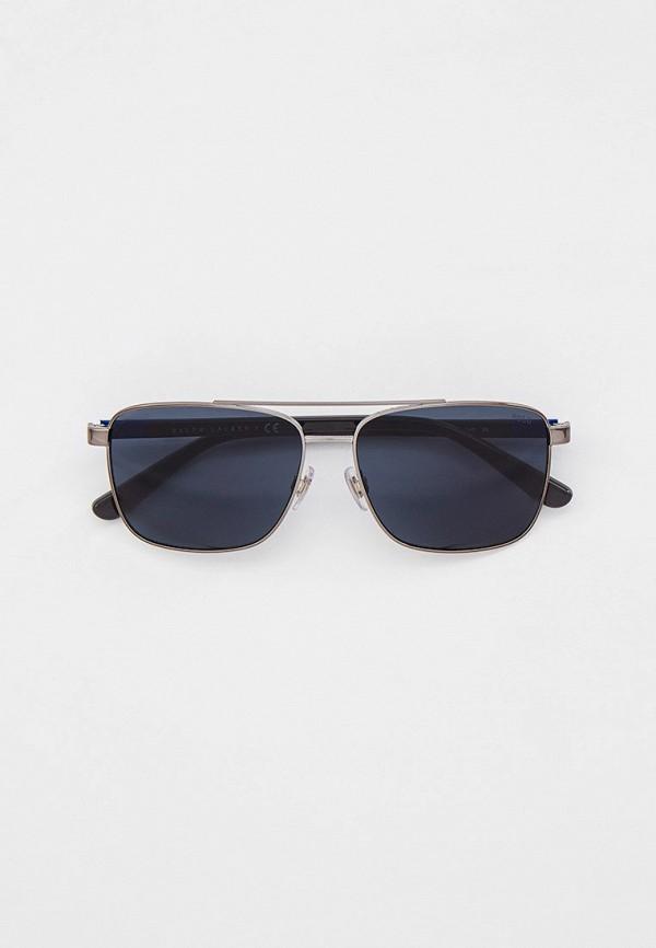 мужские квадратные солнцезащитные очки polo ralph lauren, серебряные