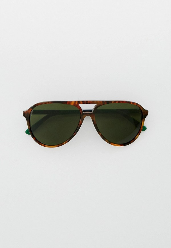 мужские авиаторы солнцезащитные очки polo ralph lauren, коричневые