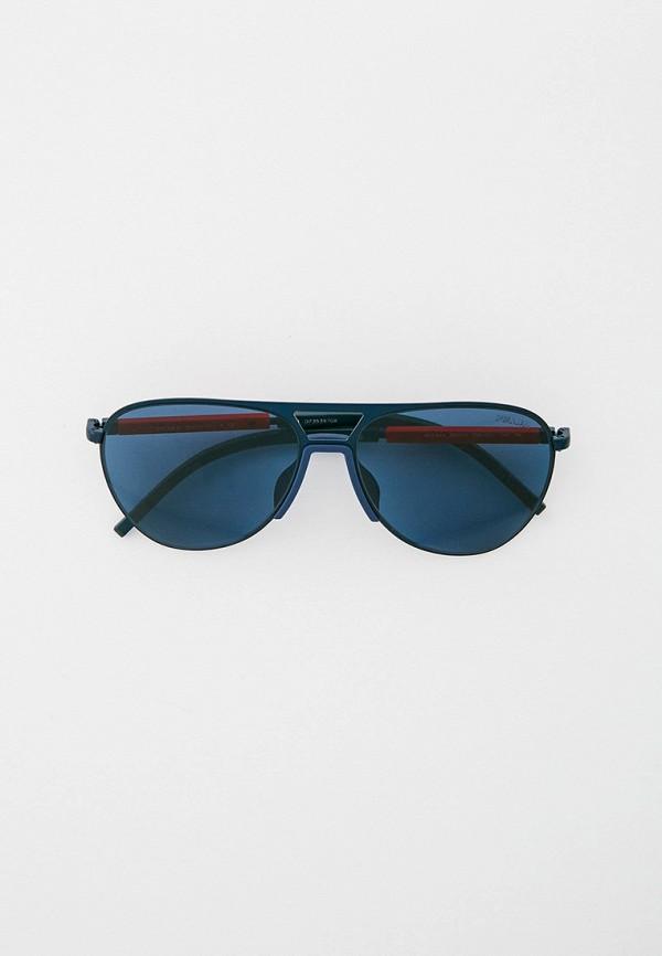 мужские авиаторы солнцезащитные очки prada linea rossa, синие