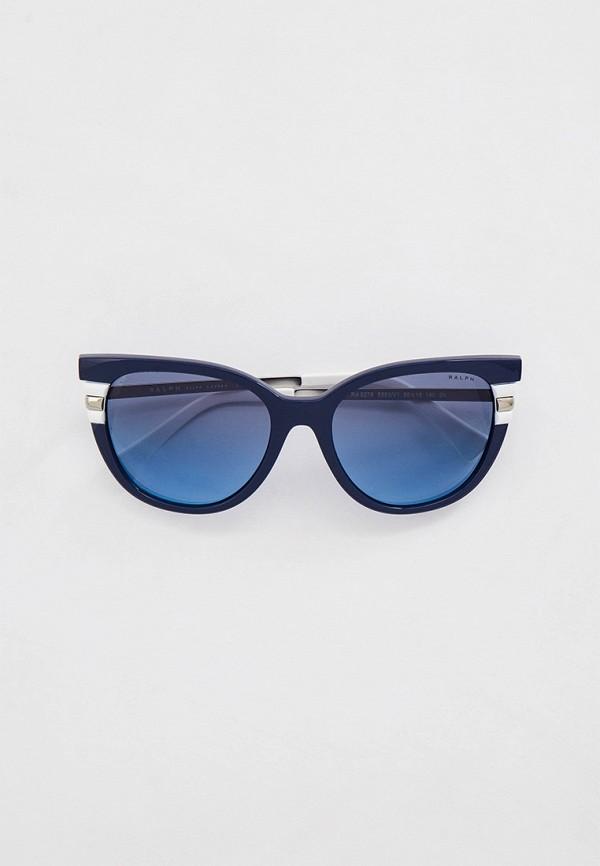женские солнцезащитные очки кошачьи глаза ralph ralph lauren, синие