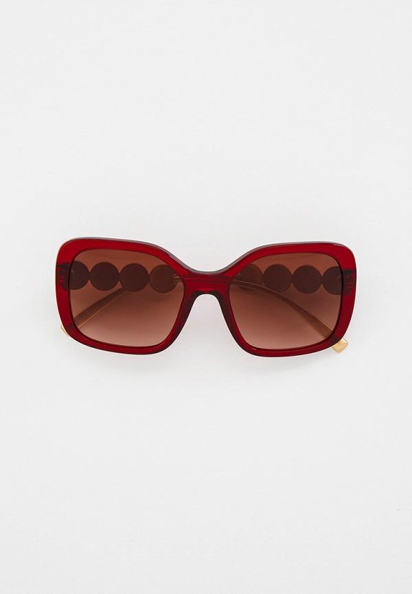 женские солнцезащитные очки versace, красные