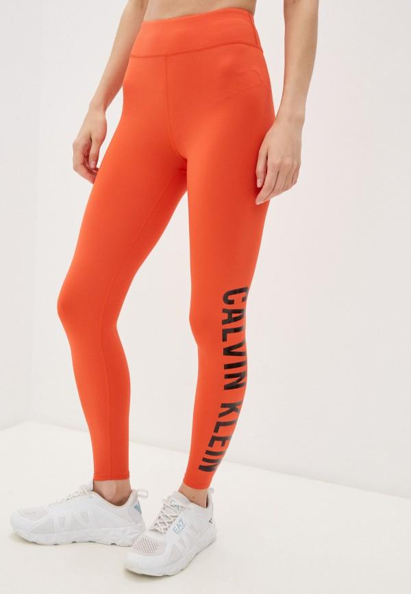женские леггинсы calvin klein, оранжевые