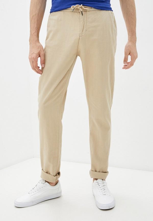 мужские повседневные брюки guess, бежевые