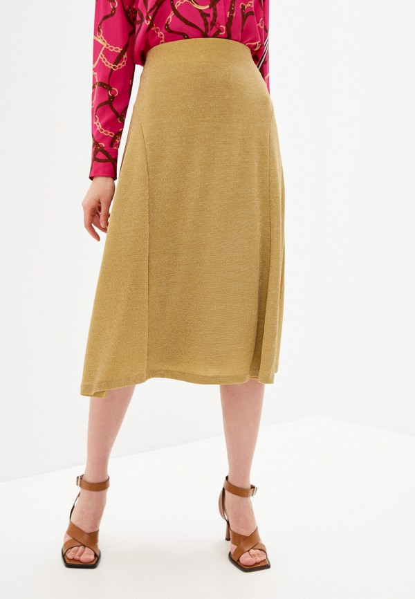женская юбка-трапеции lauren ralph lauren, золотая