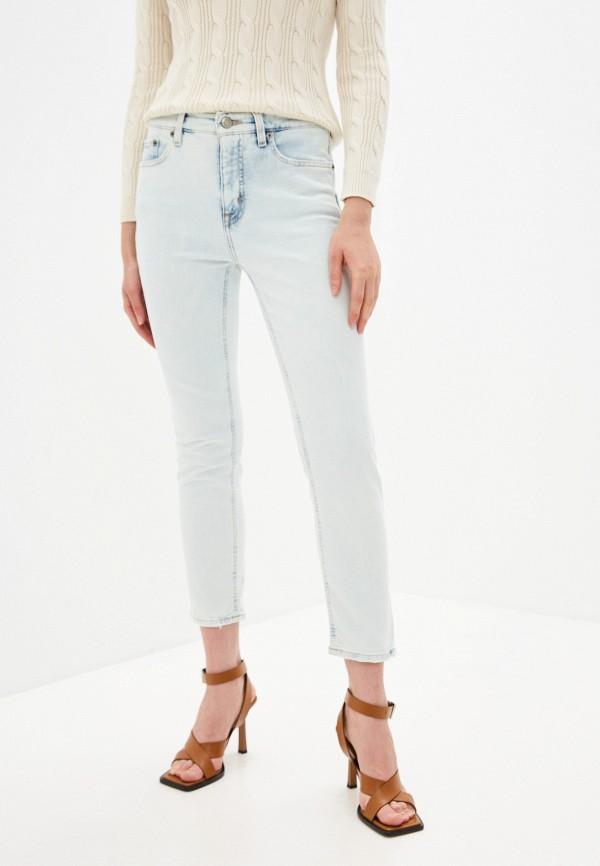 женские прямые джинсы lauren ralph lauren, голубые