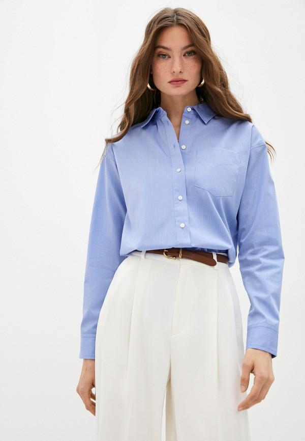 женская рубашка с длинным рукавом lauren ralph lauren, синяя
