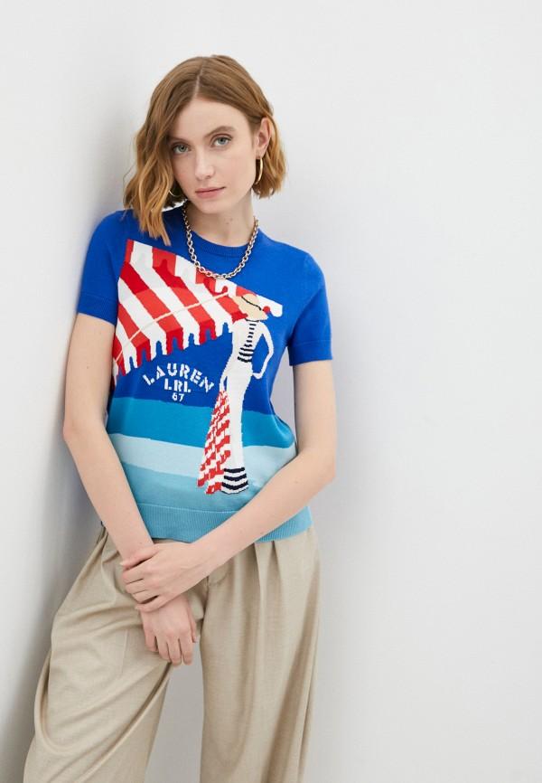 женский джемпер lauren ralph lauren, синий