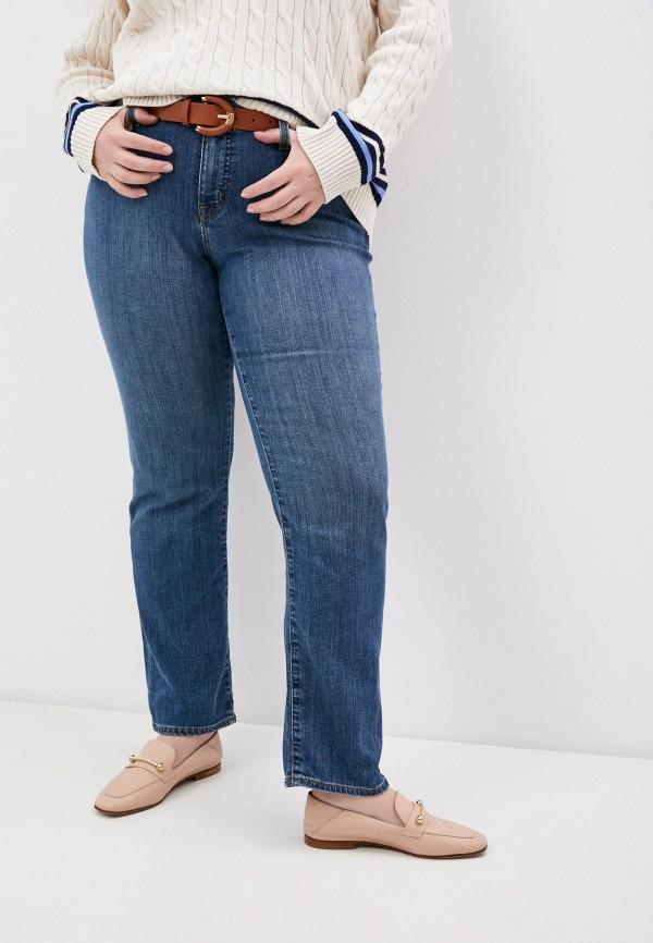 женские прямые джинсы lauren ralph lauren woman, синие