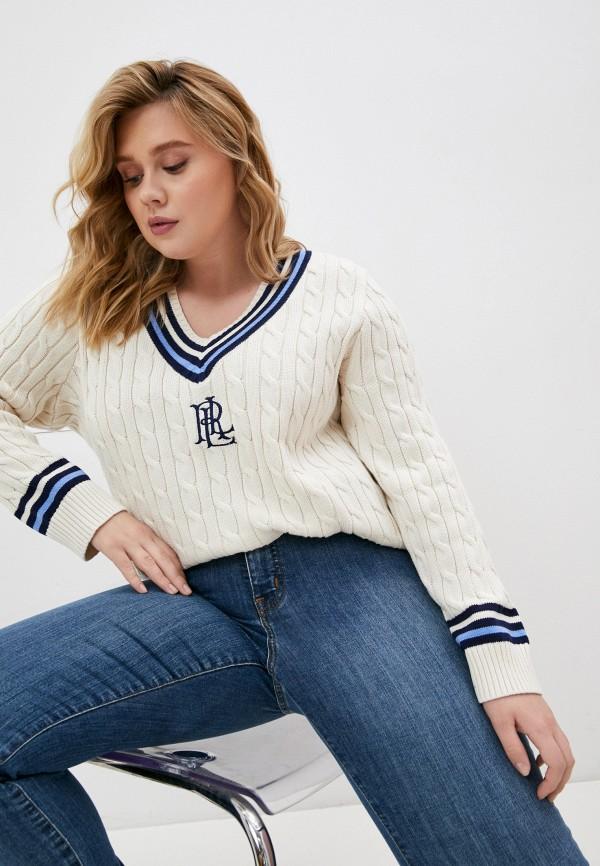 женский пуловер lauren ralph lauren woman, бежевый