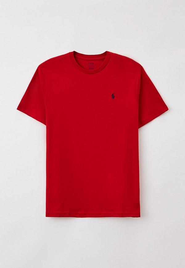 футболка с коротким рукавом polo ralph lauren для мальчика, красная