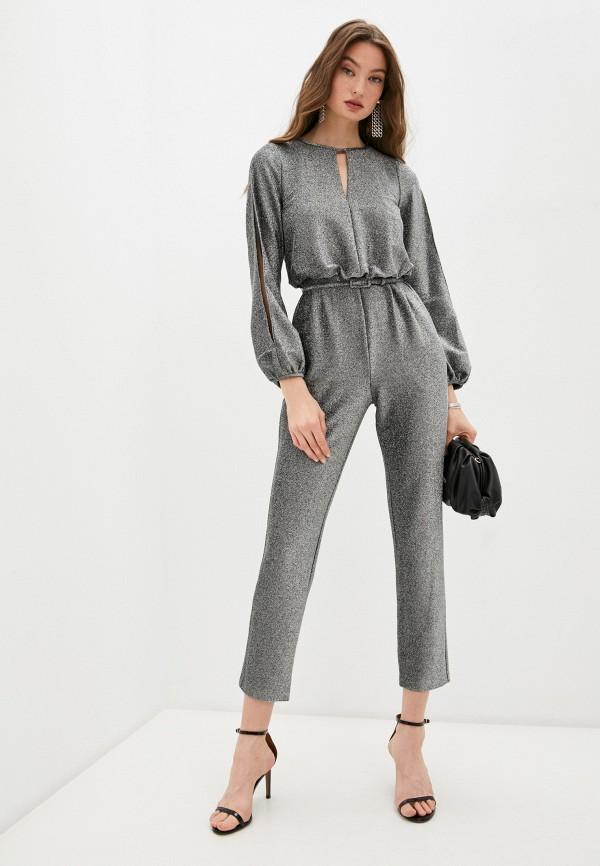 женский комбинезон с брюками lauren ralph lauren, серебряный