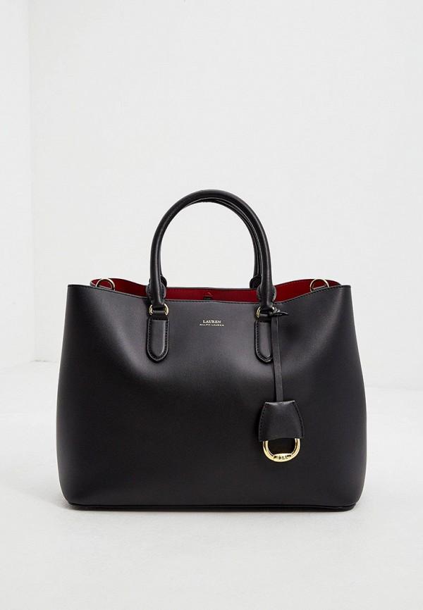 женская сумка-шоперы lauren ralph lauren, черная