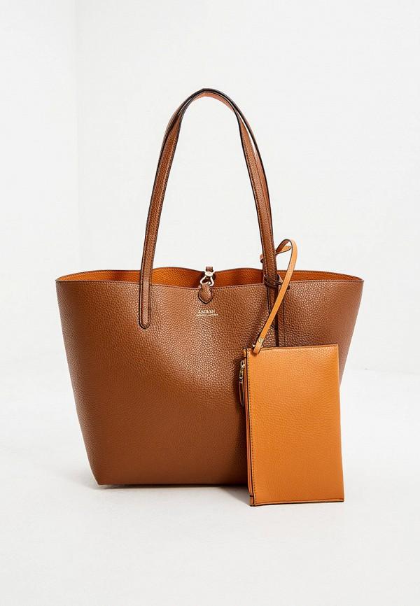 женский кошелёк с ручками lauren ralph lauren, коричневый