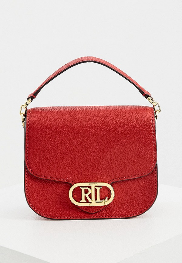 женская сумка через плечо lauren ralph lauren, красная