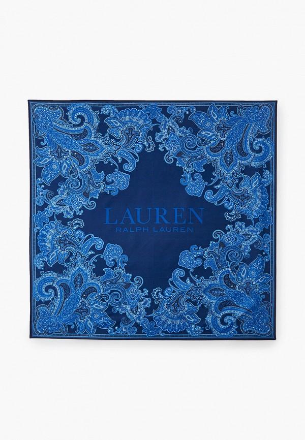 женский платок lauren ralph lauren, синий
