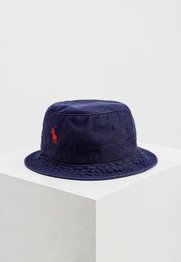 мужская панама polo ralph lauren, синяя