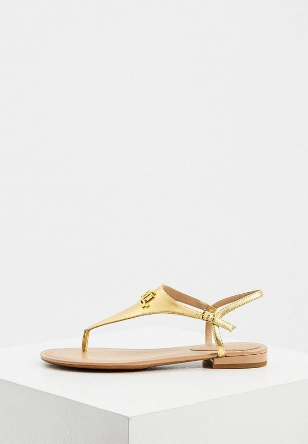 женские сандалии lauren ralph lauren, золотые