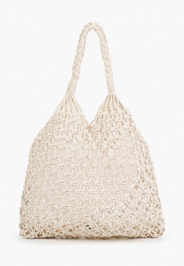 женская сумка-шоперы pieces, белая