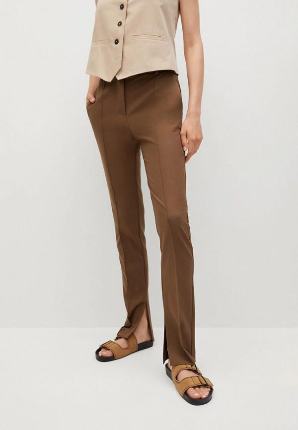 женские повседневные брюки mango, коричневые
