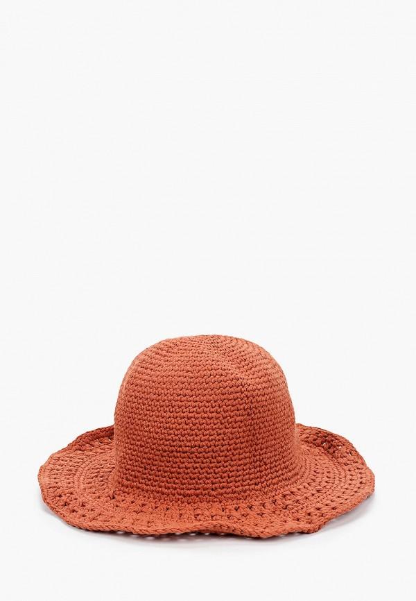 женская шляпа mango, оранжевая