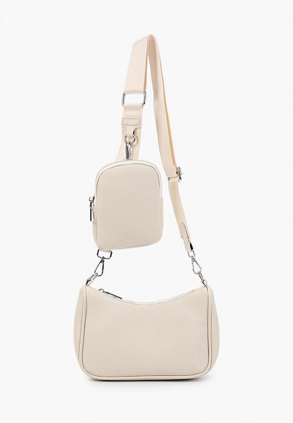 женская сумка через плечо moda sincera, бежевая