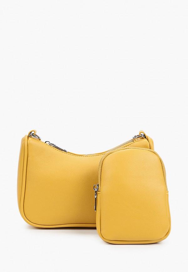 женский кошелёк через плечо moda sincera, желтый