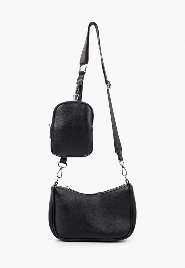 женская сумка через плечо moda sincera, черная